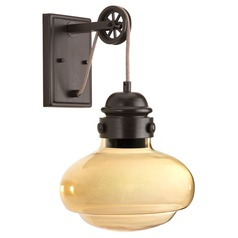 Modern Industrial LED Sconce Bronze Beaker by Progress Lighting