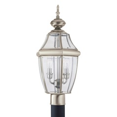 Sea Gull Lighting Lancaster Antique Brushed Nickel LED Post Light