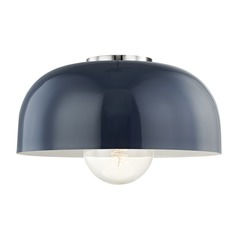 Mitzi Avery Polished Nickel / Navy Semi-Flushmount Light