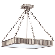 Semi-Flushmount Light in Historic Nickel Finish