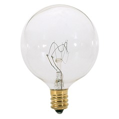 Incandescent G16.5 Light Bulb Candelabra Base 130V by Satco