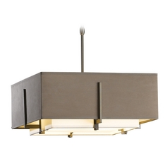 Hubbardton Forge Lighting Exos Dark Smoke Pendant Light with Square Shade