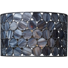 Sconce with Tiffany Glass in Matte Black Finish