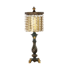 Table Lamp with Amber Glass