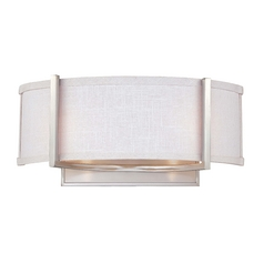 Modern Sconce with Grey Shade in Brushed Nickel Finish