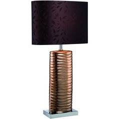 Lite Source Lighting Copper Table Lamp with Oval Shade