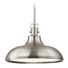 Nautical Satin Nickel Pendant Light 15.63-Inch Wide