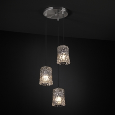 Justice Design Group Veneto Luce Collection Multi-Light Pendant