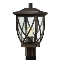 Quoizel Tudor Palladian Bronze Post Light