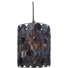 Mini-Pendant Light with Grey Glass
