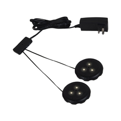12V LED Puck Light Recessed / Surface Mount 3000K Black by Sea Gull Lighting