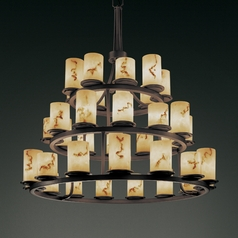 Justice Design Lumenaria 3-Tier 36-Light Chandelier in Dark Bronze