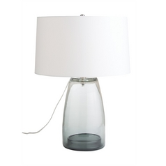 Arteriors Home Lighting Jamal Smoke Table Lamp with Drum Shade