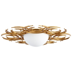 Cyan Design Vivian Gold Leaf Flushmount Light
