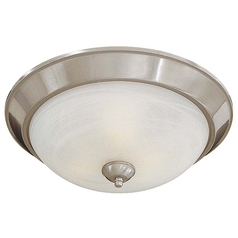 Energy Star Flushmount Light in Brushed Nickel - Etched Marble Glass