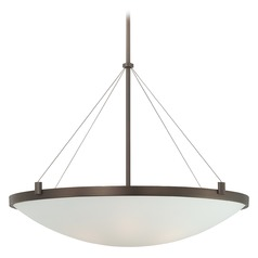 George Kovacs Suspended Pendant Light with Bowl / Dome Shade