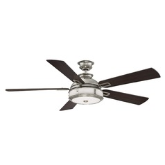 Savoy House Lighting Del Rio Satin Nickel LED Ceiling Fan with Light