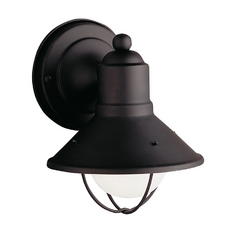 Kichler Nautical Outdoor Wall Light in Black Finish