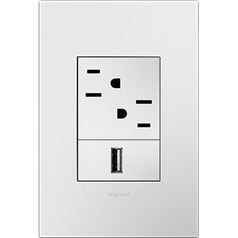 Legrand Adorne Gloss White 1-Gang 3-Module Switch Plate