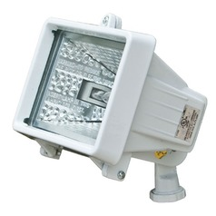 White Cast Aluminum Area Flood Light