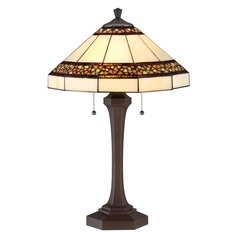 Quoizel Tiffany Copper Table Lamp