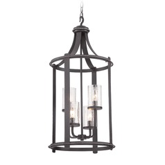 Designers Fountain Palencia Artisan Pardo Wash Pendant Light with Cylindrical Shade