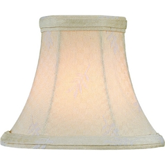 Leaf Jacquard Bell Lamp Shade with Clip-On Assembly