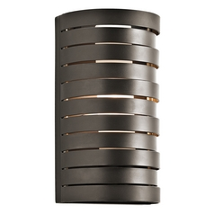 Kichler Modern Sconce Wall Light with White Glass in Bronze Finish