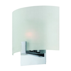 Lite Source Lighting Claire Chrome Sconce with Faceted Glass