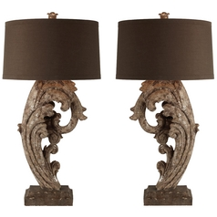 Aidan Gray Home Metallic Brown Table Lamp Set