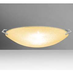 Besa Lighting Sonya Polished Nickel LED Flushmount Light