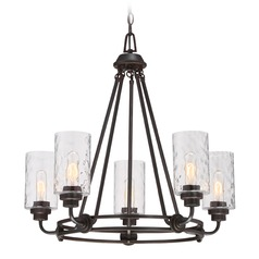 Designers Fountain Gramercy Park Old English Bronze Chandelier