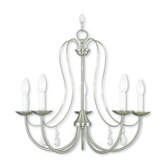 Livex Lighting Mirabella Brushed Nickel Chandelier