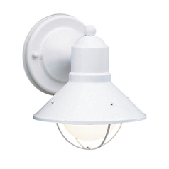 Kichler Lighting Outdoor Wall Light with White Glass in White Finish 9021WH