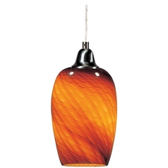 ET2 Lighting Modern Mini-Pendant Light with Amber Glass E20202-14