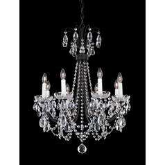 Schonbek Lighting Crystal Chandelier in Roman Silver Finish LU0002N-80H