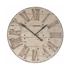 Clock in Antique Ivory Finish