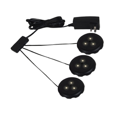 120V LED Puck Light Recessed / Surface Mount 3000K Black by Sea Gull Lighting