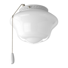Progress Ceiling Fan Light Kit with White Glass in White