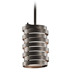 Kichler Modern Mini-Pendant Light with White Glass