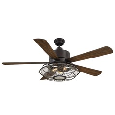 Seeded Glass Ceiling Fan with Light Bronze Savoy House