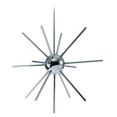 Mid-Century Modern LED Chandelier Chrome Atom by Kenroy Home