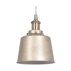 Craftmade Lighting Gold Twilight/patina Aged Brass Mini-Pendant Light with Empire Shade