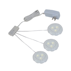 12V LED Puck Light Recessed / Surface Mount 3000K White by Sea Gull Lighting