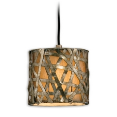 The Uttermost Company Woven Metal Drum Shade Mini-Pendant 21839