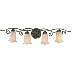 Feiss Lighting Four-Light Bathroom Light with Tulip Shades VS8104-CB