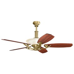 Kichler Lighting Palla Natural Brass Ceiling Fan Without Light