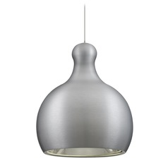 Besa Lighting Felix Satin Nickel LED Mini-Pendant Light with Urn Shade