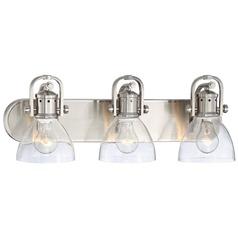 Minka Brushed Nickel Bathroom Light