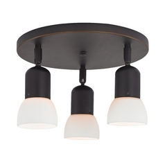 Design Classics Lighting Directional Ceiling Light with Three Lights 403-78